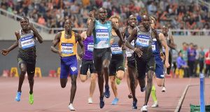 David Rudisha: the race in Shanghai  was allowed to continue in farcical circumstances, but Rudisha   faded to fifth. Photograph: Marcio Machado/Getty Images