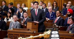 Canadian prime minister Justin Trudeau said: 'I look for opportunities to make amends directly to the member and to any members who feel negatively impacted by this exchange and intervention.' Photograph: Chris Wattie/Reuters
