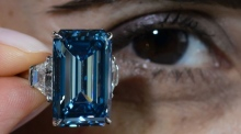 Yours for €52m: vivid blue diamond fetches world record price