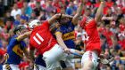 Cork's Paudie O'Sullivan reaches for the dropping ball in the 2012 All-Ireland semi-final against Tipperary. Photograph: Lorraine O'Sullivan/Inpho