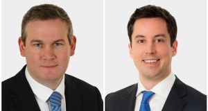 Fine Gael TDs Seán Kyne and Eoghan Murphy were among those named new Ministers of State. Photographs: Fine Gael