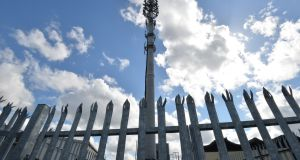 The phone mast at Unit 1, Slaney Road, in Dublin Industrial Estate. Photograph: Alan Betson/The Irish Times