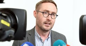 Sinn Fein spokesman on water Eoin Ó Broin said the figures released by Irish Water yesterday, which showed a dramatic fall in payment, displayed the opposition to the charges. Photograph: Eric Luke