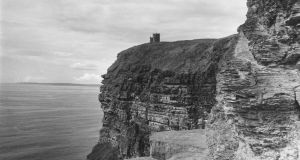 Cliffs of Moher: O'Brien's Tower, in Tower Field above the cliffs, in the 1950s. Photograph: Three Lions/Getty