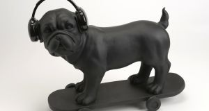 Skating bulldog €85 available at M Kelly Interiors