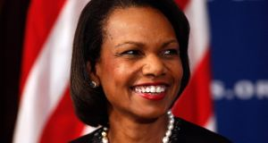 Former US secretary of state Condoleezza Rice: could lend  strong national security bona fides to Donald Trump. Photograph:  Chip Somodevilla/Getty Images