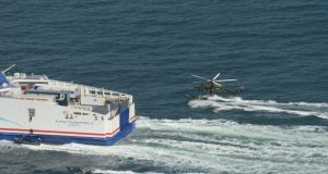 Army Ranger Wing/Defence Forces exercise in the Irish Sea off Dublin: In the exercise scenario, heavily-armed terrorists had taken control of a passenger ferry, the Stena Superfast X, which was heading to Dublin Port. Photograph: Defence Forces