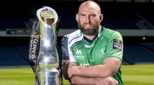 Connacht's John Muldoon will be hoping to lift this trophy against Leinster in Edinburgh. Photograph: Craig Watson/Inpho