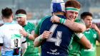 Connacht's Ultan Dillane and Sean O'Brien celebrate reaching the Pro12 decider. Photograph: James Crombie/Inpho