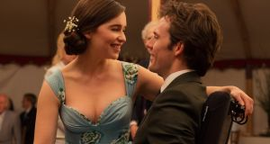 Emilia Clarke and Sam Claflin in the film Me Before You, adapted from the novel of the same name by Jojo Moyes