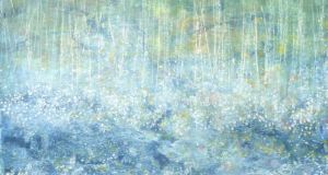 Raining cats: one of Iris Grace Carter Johnson's paintings.