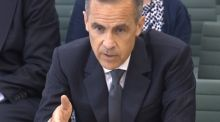Governor of the Bank of England Mark Carney gives evidence to the Commons Treasury Committee on the Bank of England inflation report on Tuesday. (Photograph:PA Wire)