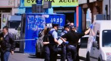 Gardaí at the scene of a fatal shooting in Dublin's north inner city in which a close associate of the Hutch family was killed. Photograph: Collins