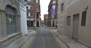 A teenage boy has been charged with sexually assaulting and exploiting a young girl on a lane in Dublin's Temple Bar.  The incident is alleged to have occurred at Parliament Row (pictured), an alley in Dublin's Temple Bar on April 11th, 2015.  Image: Google Streetview.