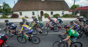 PELOTON IN MOTION: 2016 An Post Ras Stage 3, Charleville to Dingle. Photograph: Morgan Treacy/Inpho