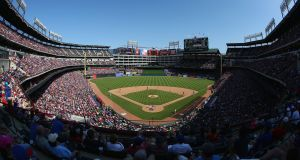 A general view of play as the Texas Rangers played host to the Los Angeles Angels at Globe Life Park in Arlington earlier this month. Photo: Getty