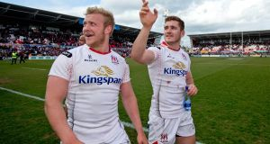 Ulster's Paddy Jackson and Stuart Olding: likely to be included in the 32-man Irish squad for tour of South Africa. Photograph: Morgan Treacy/Inpho