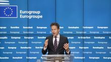 Jeroen Dijsselbloem, Dutch finance minister and head of the group of euro-area finance ministers, speaks during a news conference following a Eurogroup meeting of European finance ministers in Brussels. Photograph: Jasper Juinen/Bloomberg