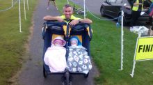 'I have twins and I've just run a 50km race. Impressed?'