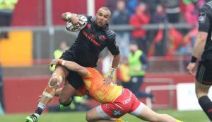 Munster's Simon Zebo will not travel with Ireland for the Tour of South Africa. Photograph: Billy Stickland/Inpho