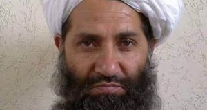 Taliban new leader Mullah Haibatullah Akhundzada in an undated photograph, posted on a Taliban twitter feed on Wednesday. Photograph: Social Media via Reuters