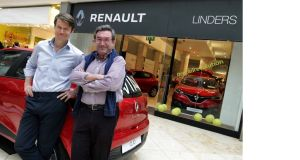 Paul Linders and his father Joe at the new store in the Swords Pavilions shopping centre.