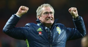 Euro 2016 is likely to be Erik Hamren's lasts as the manager of Sweden. Photograph: Getty