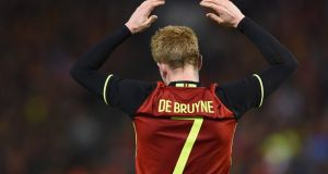Kevin de Bruyne has flourished since leaving Chelsea and is one of the key players in a very potent Belgium attack. Photograph: Gettty
