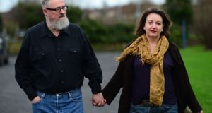 Anthony McIntyre and his wife Carrie Twomey. Photograph: Dara Mac Dónaill