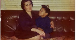 Tim Brannigan  as a boy, with his mother, Peggy