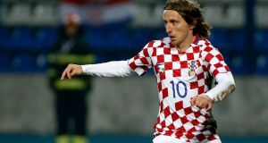 Real Madrid's Luka Modric is a key member of Croatia's strong midfield. Photograph: Getty