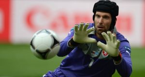 Petr Cech will see a lot of action in a tough Group D. Photograph: Getty