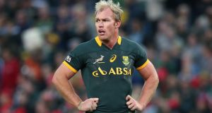 Schalk Burger has been ruled out of South Africa's home series against Ireland in June. Photograph:  David Rogers/Getty Images