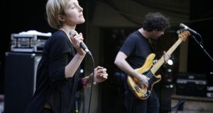 Channy Casselle of Poliça performs for Flood Fest at Cedar Street Courtyard at the  2016 SXSW Music, Film + Interactive Festival  in Austin, Texas. Photograph: Brian Feinzimer/Getty Images