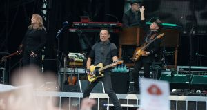 Bruce Springsteen performing at Croke Park. Photograph: Dave Meehan/The Irish Times