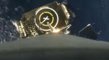 Onboard camera captures SpaceX rocket landing
