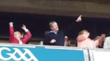 Taoiseach rock: Air guitar playing Enda Kenny at Springsteen gig
