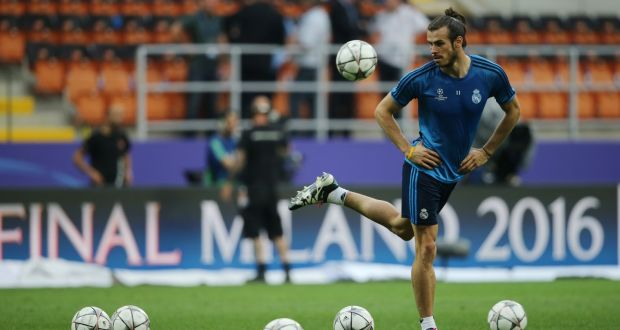 32819b1b59a1 Gareth Bale in Milan ahead of Saturday s Champions League final.  Photograph  Getty Images