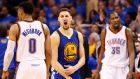 Klay Thompson scored 41 points as the Golden State Warriors forced a seventh play-off tie with the Oklahoma City Thunder. Photograph: Epa