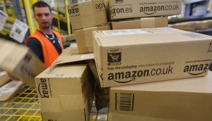 Amazon warehouse: the company has offices in Cork and Dublin, with the one in the capital being its technical hub in Europe. Photograph: Seán Gallup/Getty Images