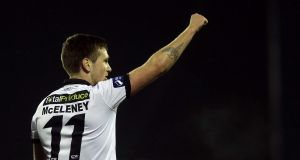 Dundalk's Patrick McEleney scored the late winner against Wexford Youths. Phtotograph: Morgan Treacy/Inpho