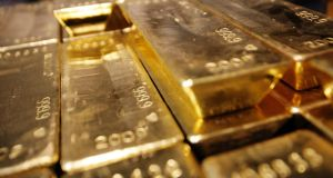 Gold has been the second-best-performing precious metal this year. Photograph: Sebastian Derungs/AFP/Getty Images