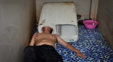 Man rescued after head stuck in washing machine in China
