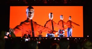 It is no exaggeration to say that, along with The Beatles, Kraftwerk is the most influential group in contemporary popular music. Photograph: AP/dpa/Jens Kalaene