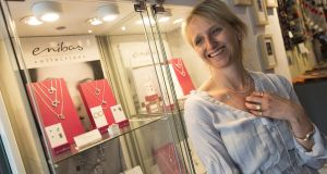 Designer Sabine Lenz of Enibas Jewellery pictured at her shop in Schull, West Cork. Photograph: Emma Jervis Photography