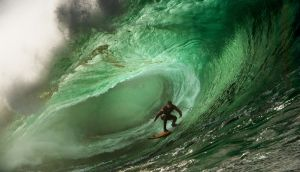 Surfing at Mullaghmore Head, Co Sligo. Photograph: Ian Mitchinson
