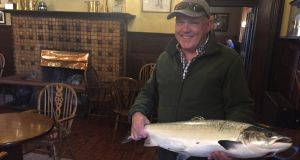 Seamus O'Neill from Cavan with his 6.3kg beauty at Ballynahinch Castle Fishery.