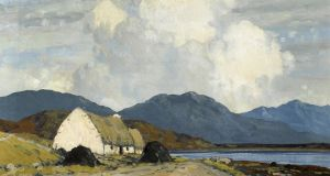 "Paul Henry's ""Connemara Landscape"", a traditional image of thatched cottages, turf stacks and cumulous clouds, made €100,000"