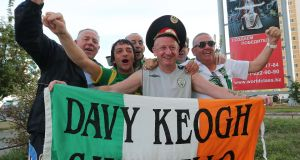 K is for Keogh, Davy: the Irish super fan has been saying hello at games for 30 years now. His flag will be a certain fixture at Euro 2016.