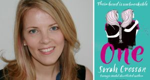 Sarah Crossan was awarded the £2,000 prize for her novel, One, at a ceremony at the Hay Festival, hosted by author Malorie Blackman